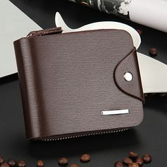 Men's Leather Zip Wallet Pocket Money Purse ID Credit Card Holder Bifold Clutch , https://myalphastore.com/products/mens-leather-zip-wallet-pocket-money-purse-id-credit-card-holder-bifold-clutch/,