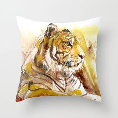 Hey, I found this really awesome Etsy listing at https://www.etsy.com/listing/206288402/tiger-pillow-16x16-tiger-decor-tiger-art
