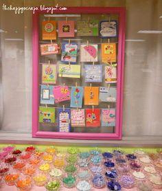 A Visit to Doodlebug Design - The Happy Scraps Vendor Displays, Craft Fair Displays, Display Ideas, Shop Displays, Booth Ideas, Karten Display, Business Card Displays, Craft Stalls, Handmade Market