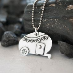 Gypsy Teardrop Camper Artisan Jewelry. So want this!!!!