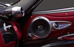 Sonus Faber has created high end car speakers for the Pagani Huayra. Visit the website to find out more about this luxurious complete car audio system. Fi Car Audio, Custom Car Audio, Jl Audio, Custom Cars, Vehicle Audio, Pagani Huayra Interior, Car Audio Installation, Car Audio Systems, Security Systems