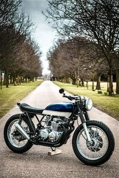 "Honda CB550 Cafe Racer ""Blue and Cream"" by Robinson's Speed Shop #motorcycles #bratstyle #motos 