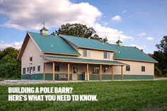 Want to Build a Pole Barn Home? Here's What You Need to Know. Lester Buildings. We're talking about pole barn, or post frame, homes; they're a fast growing segment of home construction across the country. #polebarn #postframe #homedesign #architecture #exteriordesign #design #farmhouse #countryliving