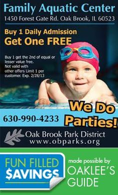 Coupons for Family Fun Activities in Chicago and Suburbs Local Coupons, Stuff To Do, Fun Stuff, Family Activities, Get One, Chicago, Parties, Swimming, Fun Things