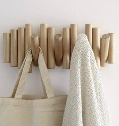 16 stylish coat hooks that double as wall décor 16 stylish coa. 16 stylish coat hooks that double as wall décor 16 Wooden Wall Decor, Diy Wall Decor, Wooden Walls, Diy Home Decor, Wall Decorations, Wooden Coat Hooks, Wood Hooks, Diy Coat Hooks, Wall Coat Hooks