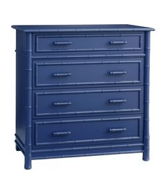 Faux Bamboo Dresser in Blueberry from Redford House