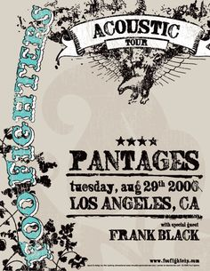GigPosters.com - Foo Fighters - Frank Black