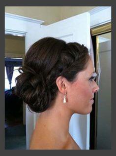 shoulder length updos wedding - Google Search