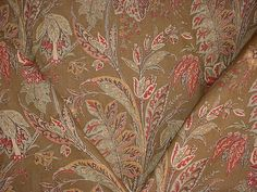 4-1/8 yards Lee Jofa 2007127 Kashmir Tree in Sienna - Luxury Floral Paisley Linen Print Drapery Upholstery Fabric - Free Shipping