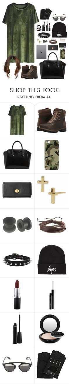 """cuz it feels so empty without me"" by annefs1 ❤ liked on Polyvore featuring Timberland, Givenchy, Casetify, Forever 21, Argento Vivo, Zodaca, Hype, MAC Cosmetics, Karl Lagerfeld and GREEN"