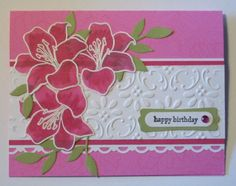 Love this use of Stampin' Up Fifth Avenue Floral