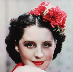 Norma Shearer, beautiful color photo of her.