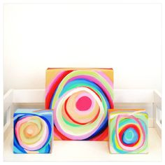 How about these three? I think they make a perfect grouping. It is so fun to play around with. Put them on a shelf or hang them.   www.suzeford.com