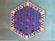 Looking for a way to dress up your table or add a bit of color? Check out this hand woven lap weave coaster. Pinterest Facebook Google+ reddit StumbleUpon Tumblr Pinterest Facebook Google+ reddit StumbleUpon Tumblr If you can not find such a hexagon, you can also use a square and a few nails, transformed into
