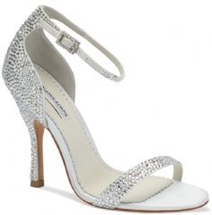 "The Benjamin Adams Alba shoes are a sophisticated halter back strappy sandal encrusted with beautiful ab and clear crystals. The streamlined design focuses on the glittering crystal embellishments. The heel measures 3 3/4"". Available in Ivory. http://www.bellissimabridalshoes.com/Ivory-Benjamin-Adams-Alba-Bridal-Shoes-Prodview.html"