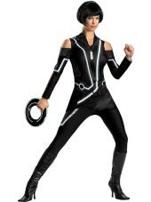 tron costume - could diy with black clothes and reflective tape