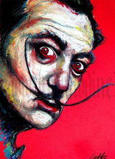 "Print 8x10"" - Salvador Dali - Surreal Surrealism Abstract Spanish Artist Dreams Mustache"
