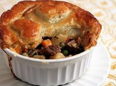 Beef Pot Pie Recipe!  I love to make homemade pot pies!  This will definitely get made!
