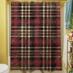 Big Save Addington Shower Curtain By Loon Peak Plaid Shower Curtain, Striped Shower Curtains, Accent Furniture, Home Furniture, Shower Liner, Wide Stripes, New Chic, Bathroom Accessories, Interior Design