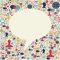 Social Media Speech Bubble Texture Stock Vector - Illustration of idea, chat: 23428895 Top Social Media, Power Of Social Media, Social Media Icons, Social Media Marketing, Marketing Tools, Content Marketing, Digital Marketing, Media Communication, Media Literacy