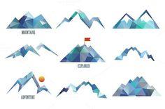 Mountains Logo Templates on Creative Market