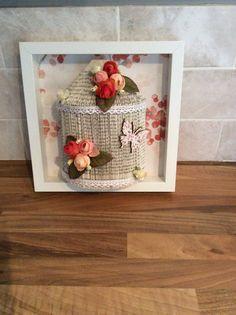 Book folded framed birdcage by LilysLounge18 on Etsy