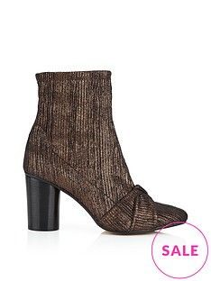 hudson camille fabric ankle-boots bronze