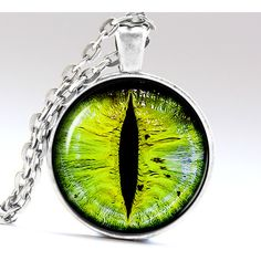 Green eye pendant Ogre eye jewelry Shrek eye necklace Green Eye... ($13) ❤ liked on Polyvore featuring jewelry, green pendant, green jewelry and pendant jewelry