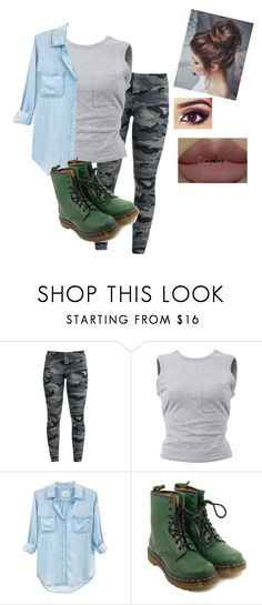 """school sucks a**"" by jasminelovesya-2 ❤ liked on Polyvore featuring T By Alexander Wang, Rails, Dr. Martens and Kylie Cosmetics"