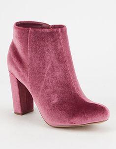 LILIANA Velvet Womens Mod Boots Purple