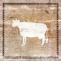 Farm Cow Silhouette
