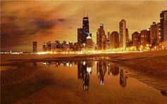 Cảnh chạng vạng tuyệt đẹp của các thành phố lớn