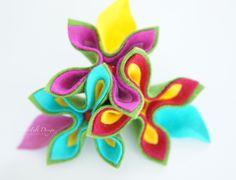 broche de la flor de regalo de cumpleaños de la mu de FlowerFelt Design por DaWanda.com