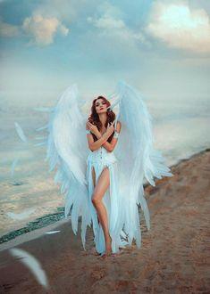 Lucifer Wings, Angel Wings Costume, Cosplay Wings, Victoria Secret Wings, White Angel Wings, Ange Demon, Angel Pictures, Angel Images, Foto Art