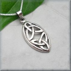 Double Triquetra Necklace - Trinity Knot Celtic Jewelry