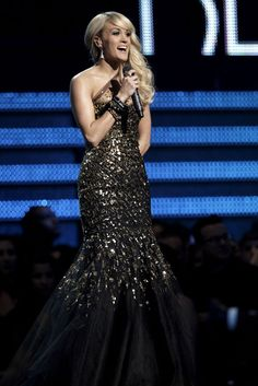 Carrie Underwood performing at the 2012 Grammy's. Love it!