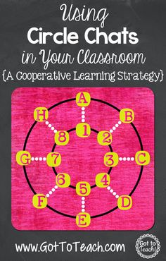 Got to Teach!: Circle Chats: A Cooperative Learning Strategy {Post 3 of 5}