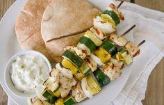 Healthy Grilled Greek Chicken Kebabs recipe