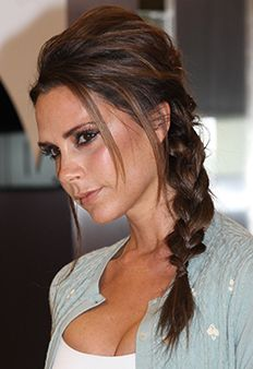 Victoria Beckham always has a fabulous 'do- like this texturized braid.
