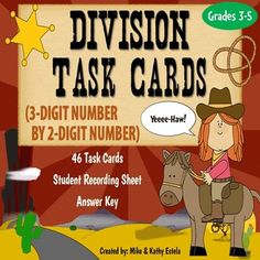 Division Task Cards {Dividing 3-Digit Number by 2-Digit Number} $