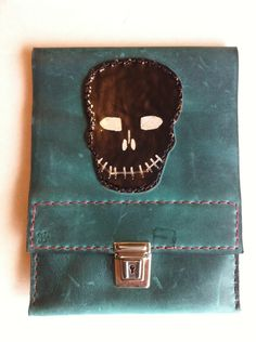 Slimline green leather pencil case £18.49