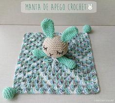 Crochet Mantas Spanish New Ideas Crochet Security Blanket, Crochet Lovey, Crochet Bedspread, Crochet Amigurumi, Crochet Baby Hats, Baby Blanket Crochet, Crochet Dolls, Baby Knitting, Free Crochet