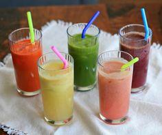 note to self: remember this list of links to recipes for healthy juices, smoothies, soups, salads, meals + desserts