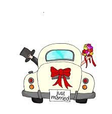 """Bride and groom in pink car with """"Just Married"""" sign Just Married - Couple in pink car - illustrazione arte vettoriale<br> Bride and groom in pink car with """"Just Married"""" sign Wedding Wishes, Wedding Signs, Wedding Cards, Wedding Ideas, Just Married Auto, Wedding Drawing, Bride Pictures, Couple Drawings, Banner Printing"""