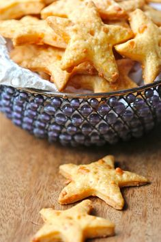Homemade cheddar crackers.