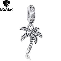 >> Click to Buy << 100% 925 Sterling Silver White Coconut Tree Fit Pandora Original Bracelet & Pendant Necklace Jewelry Makings WEUS041 #Affiliate