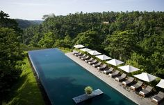 modern architecture - kerry hill architects - alila ubud - ubud - bali - exterior view - swimming pool