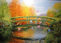 Winnie the Pooh Artwork Peter Ellenshaw Limited Edition Giclee on Canvas Autumn Comes to the Wood - Fall Deluxe Edition