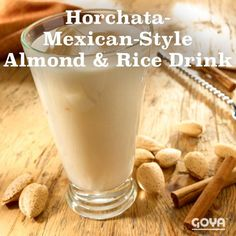 Horchata – Mexican-Style Almond and Rice Drink Mexican Dishes, Mexican Food Recipes, Ethnic Recipes, Yummy Drinks, Yummy Food, Horchata Recipe, Hispanic Heritage, Latin Food, Spanish Food