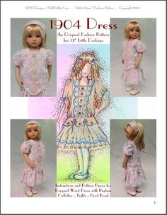 MHD Designs - 1904 Dress - Fashion Pattern for 13 Inch Little Darlings